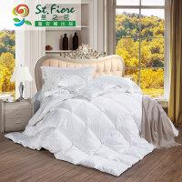 【富安娜家纺】羽绒被100%白鸭绒被芯加厚全棉被子冬被珍质羽绒被