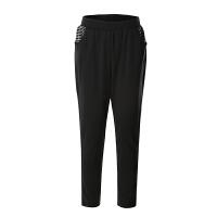 鸿星尔克女装 ekre 女运动裤 正品女韩版潮流时尚针织长裤