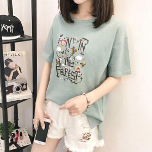 短袖t恤女韩版衣服夏装新款打底体恤衫短袖上衣女BH500-1885