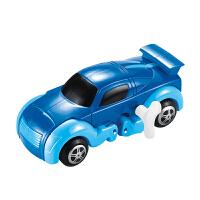【当当自营】起航益智储能上链变形恐龙小汽车发条自动行走玩具JD-905A蓝色