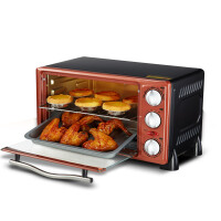 HYUNDAI/现代 HK-1201韩国多功能电烤箱家用烘焙烤箱控温机械式迷你烤蛋糕