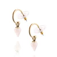 A&C signature系列时尚椎体浅粉色宝石女士耳饰1.4cm*0.5cm 支持礼品卡支付