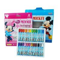 真彩儿童油画棒 迪士尼24色油画棒 蜡笔 儿童美术绘画工具 颜色随机