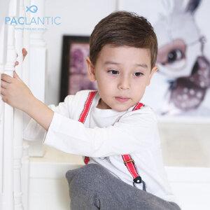 派克兰帝2017秋装小男童图案针织长袖T恤