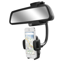 GXI 苹果iPhone 7/6S plus汽车后视镜导航支架 三星 华为车载车用手机支架 创意座通用导航支架 通用手机座