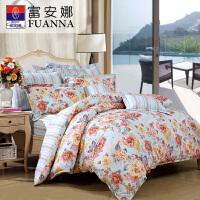 富安娜 四件套床上用品 床单四件套纯棉1.8m床梦中爱丽丝