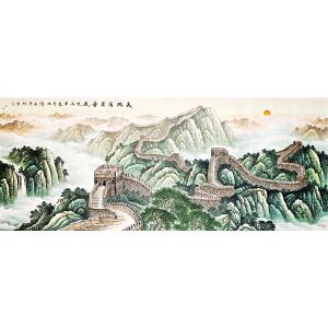 北京市美协会员,中国工笔画学会会员,白庚延教授高徒夏仕海作品《长城万里图》