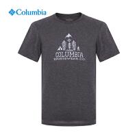 【领卷满400减100】Columbia哥伦比亚男士户外速干衣圆领短袖T恤AE1564