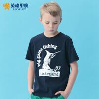 英格里奥童装夏装男童圆领短袖T恤儿童休闲装9520