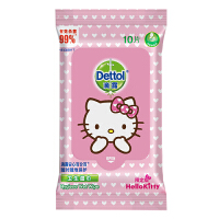 Dettol滴露 Hello kitty10片装 湿巾限量版
