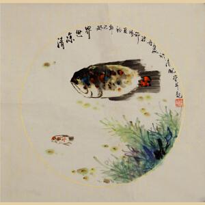 《清凉世界》天津美协会员,女子画院会员梁丹花鸟国画
