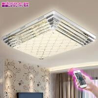 东联现代简约LED客厅灯吸顶灯卧室灯餐厅长方形LED玻璃水晶吸顶灯x283