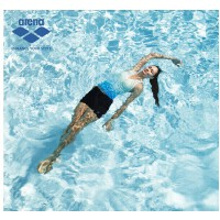 arena阿瑞娜 女士时尚舒适条纹渐变分体平角泳衣套装 保守显瘦