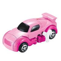 【当当自营】起航益智储能上链变形恐龙小汽车发条自动行走玩具JD-905A粉色