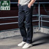战地吉普春夏季直筒工装裤男潮多口袋宽松长裤户外休闲裤耐磨军裤