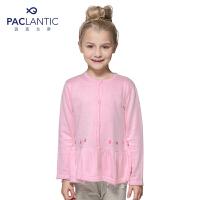 派克兰帝品牌童装 女童中小童 春装绣花小裙摆针织开衫  儿童 针织衫 外套