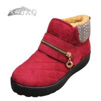 欣清/XQ冬季新款时尚女士短靴 雪地靴日常休闲帆布棉鞋女