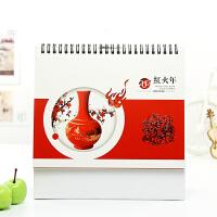 2017年鸡年记事创意台历 企业商务办公桌面日历周历定制