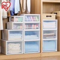爱丽思IRIS 可叠加环保塑料收纳储物抽屉整理箱套装可组收纳柜 BC-500