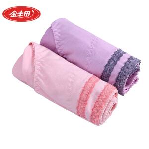 金丰田女士内裤2条装 棉质女平角裤6300A