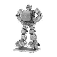 爱拼 全金属diy 纳米拼装模型3D立体拼图 变形金刚 超声波 黄蜂 超声波彩色英文版
