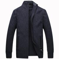 伯思凯2015新款男士羊毛衫 商务立领拉链门襟保暖毛衣针织男外套