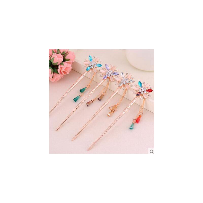 户外头饰韩国盘发和风饰品发卡 民族风发簪发饰复古簪子古典发钗图片