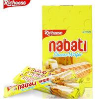 印尼进口 Richeese丽芝士纳宝帝奶酪芝士威化饼干200g盒进口何意零食品