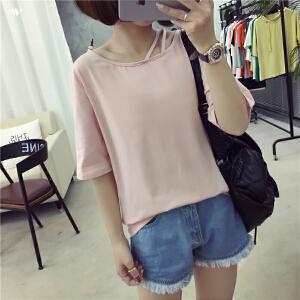夏装新款宽松短袖T恤女原宿学生风GD759-7315