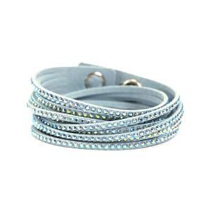 Swarovski/施华洛世奇 女士冰蓝色水晶镶饰手链 5046391 支持礼品卡支付