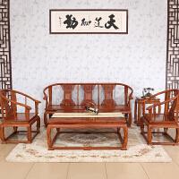 包邮简迪红木家具非洲花梨木皇宫椅沙发5件套明清仿古家具客厅家具中式实木客厅沙发红木沙发组合