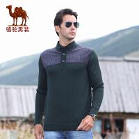骆驼 秋装男装 男士时尚针织衫 长袖毛衣