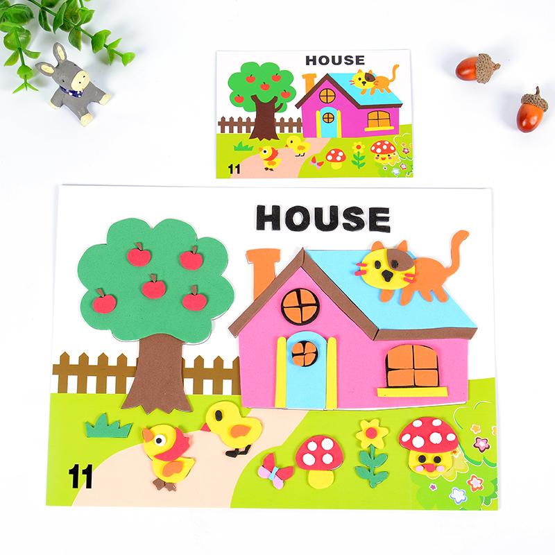 孩派 幼儿园益智 卡通贴纸 少儿趣味益智贴画 k1-16英文动物贴画_11号