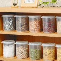 日本进口 圆形密封罐 透明塑料密封罐 干货零食茶叶保鲜罐