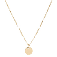 Arts & Crafts/A&C PURE STEEL系列简约金色圆形女士项链 支持礼品卡支付