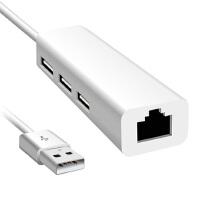 苹果 macbook air pro retina 11寸 13寸 15寸 以太网转接器 分线器 macbook网线网卡转换器 苹果电脑USB转接口 macbook air网线转换器