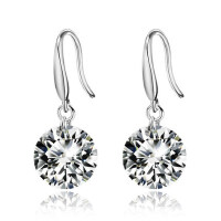 S925银 耳环 女 韩版时尚 银饰品 耳饰耳坠 气质 镶钻