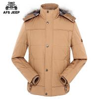 男士棉衣男冬装中青年棉服加厚大码棉袄宽松棉大衣外套潮