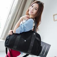 吉野2017新款韩版休闲大包包帆布包手提包时尚潮流女士单肩包斜挎包女包大包包旅行包行李包711A2