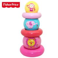 【当当自营】费雪彩虹叠叠圈宝宝叠叠乐堆堆塔堆叠球婴幼儿层层叠早教益智玩具F0922粉色