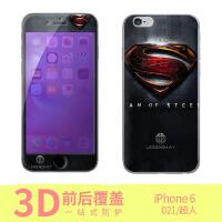 iphone6 超人手机保护壳/彩绘保护壳/钢化膜/前钢化膜