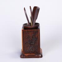 林仕屋 功夫茶具配件套装整套黑檀实木陶瓷零配组合 茶道六君子CMZ1736