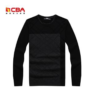 CBA男子毛衣 男士春秋冬款套头圆领针织衫套头毛衣