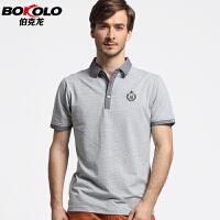 BOKOLO 伯克龙 男士时尚经典保罗衫 男装新款 立领短袖POLO衫 B8829