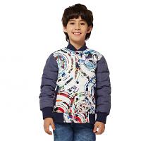 派克兰帝童装 儿童棒球羽绒夹克男孩冬季防水羽绒服