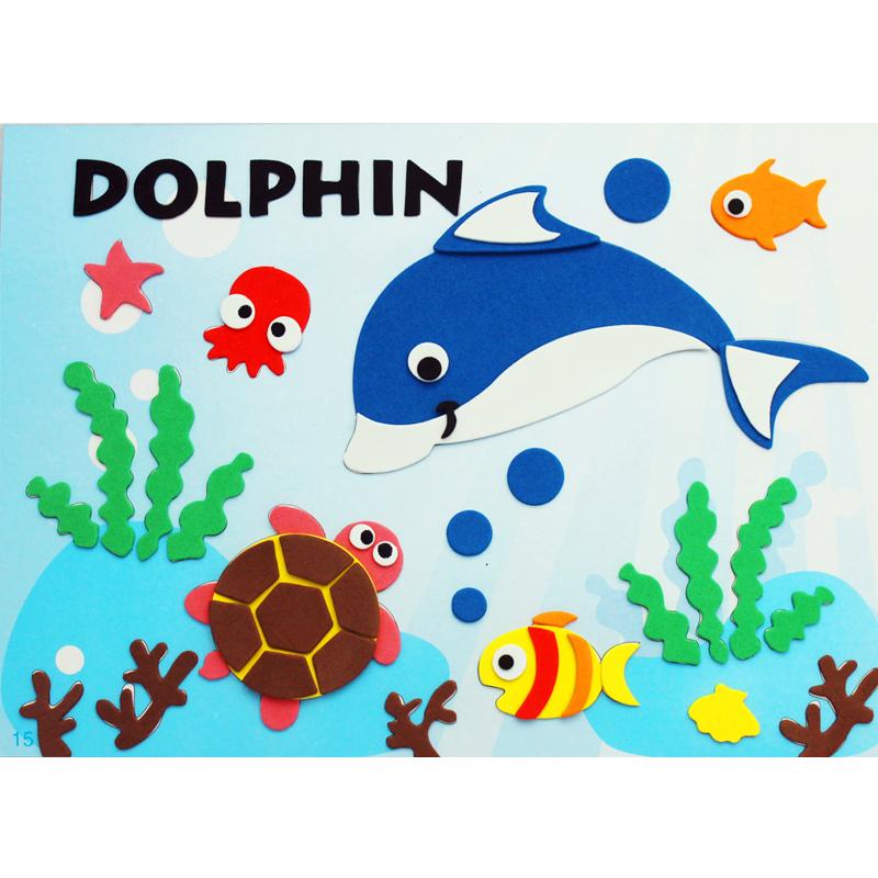 孩派eva贴画儿童手工制作 儿童益智玩具diy幼儿园手工 动物贴纸_15