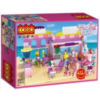 小白龙COGO积高积木拼装玩具 益智梦幻女孩冰淇淋店14513
