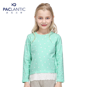 派克兰帝品牌童装 女童秋装秋装波点桃心甜美长袖T恤  儿童T恤