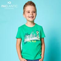 派克兰帝品牌童装 夏装男童时尚经典短袖T恤 儿童T恤