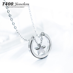 T400 星星项链女银饰日韩国简约锁骨链吊坠学生森系配饰品生日礼物 12291
